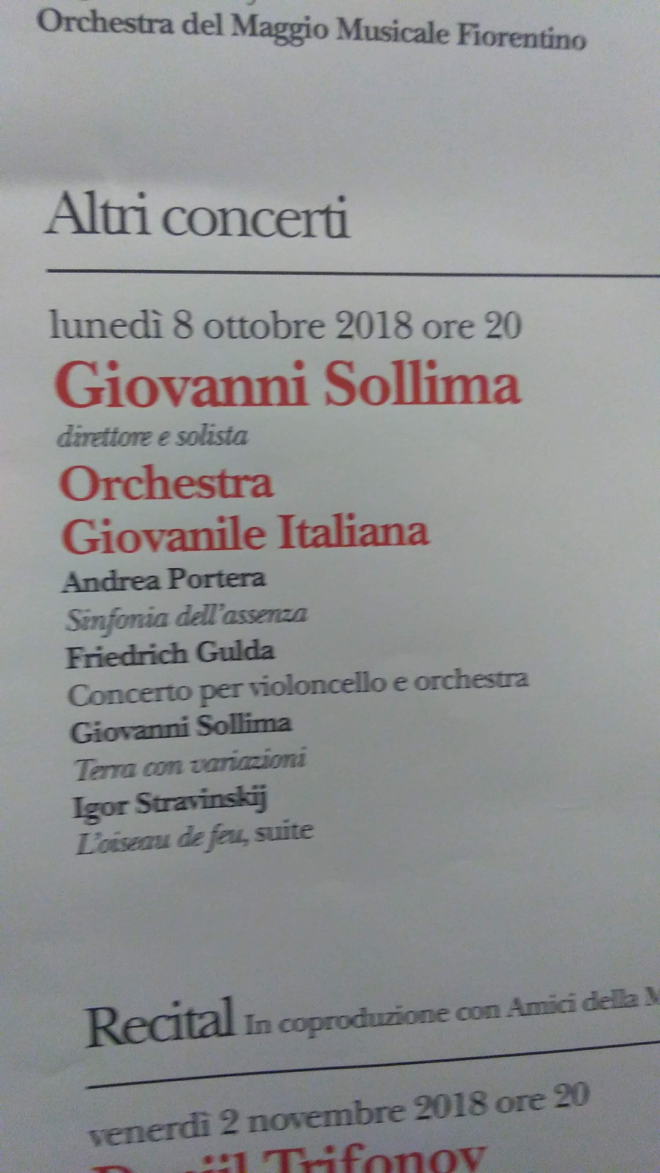 Registrazione della Sinfonia dell'Assenza (Portera – Sollima)
